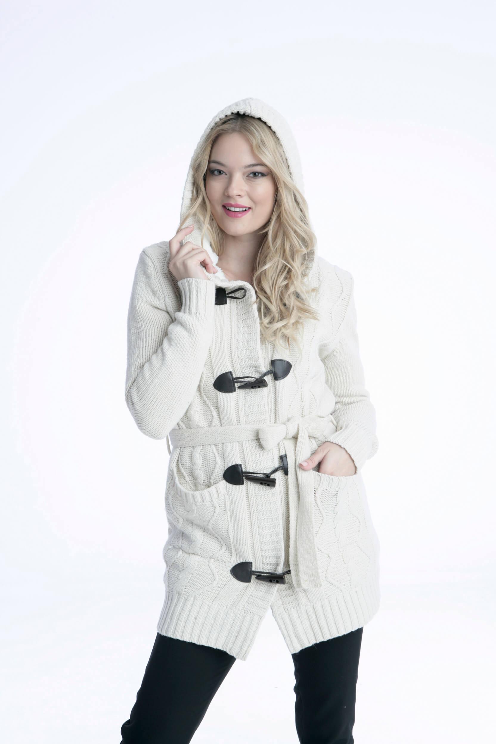 Γυναικείο Μπουφάν Ζακέτα με Κουκούλα - Prestige Fashion e79aa66d8a9