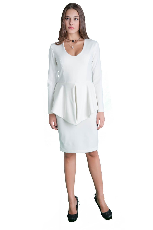 4c1a1b2e1879 Γυναικείο φόρεμα μιδι με βολάν στη μέση - Prestige Fashion