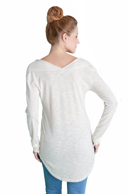 Γυναικεία μακριά μπλούζα με μανίκια - Prestige Fashion 7db3e97825e