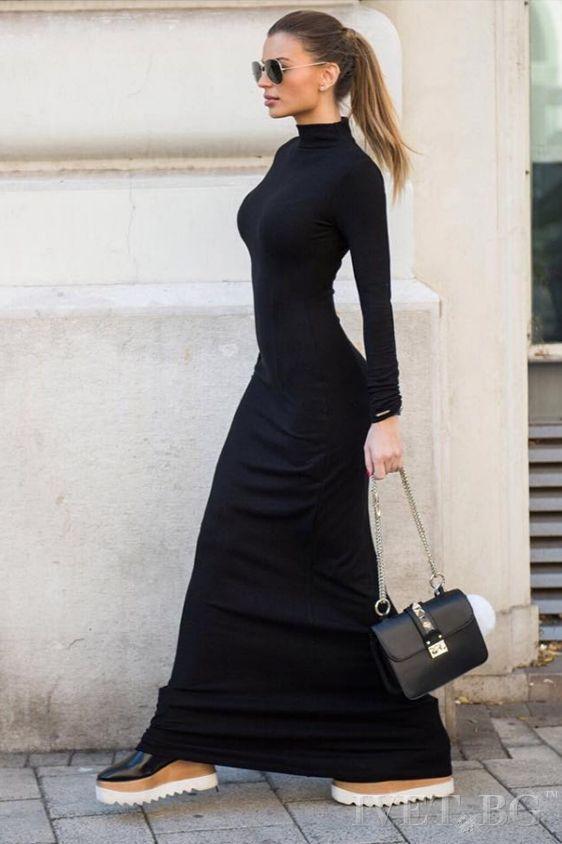 ebf35888ac9 Φόρεμα maxi ζιβάγκο και με μανίκια - Prestige Fashion
