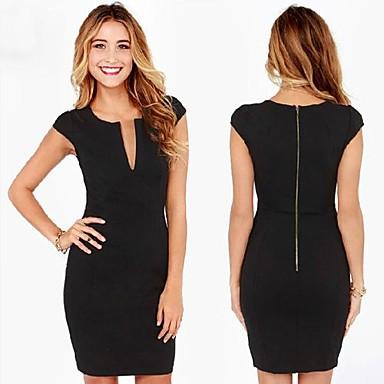 3a4f230c4651 Φόρεμα Μίνι Αμάνικο με Φερμουάρ στην Πλάτη - Μαύρο