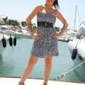 Φόρεμα Στράπλες Μίνι Animal Print