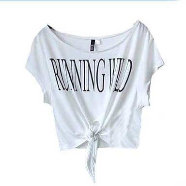 Τοπ γυναίκεια μπλούζα με κόμπο μπροστά