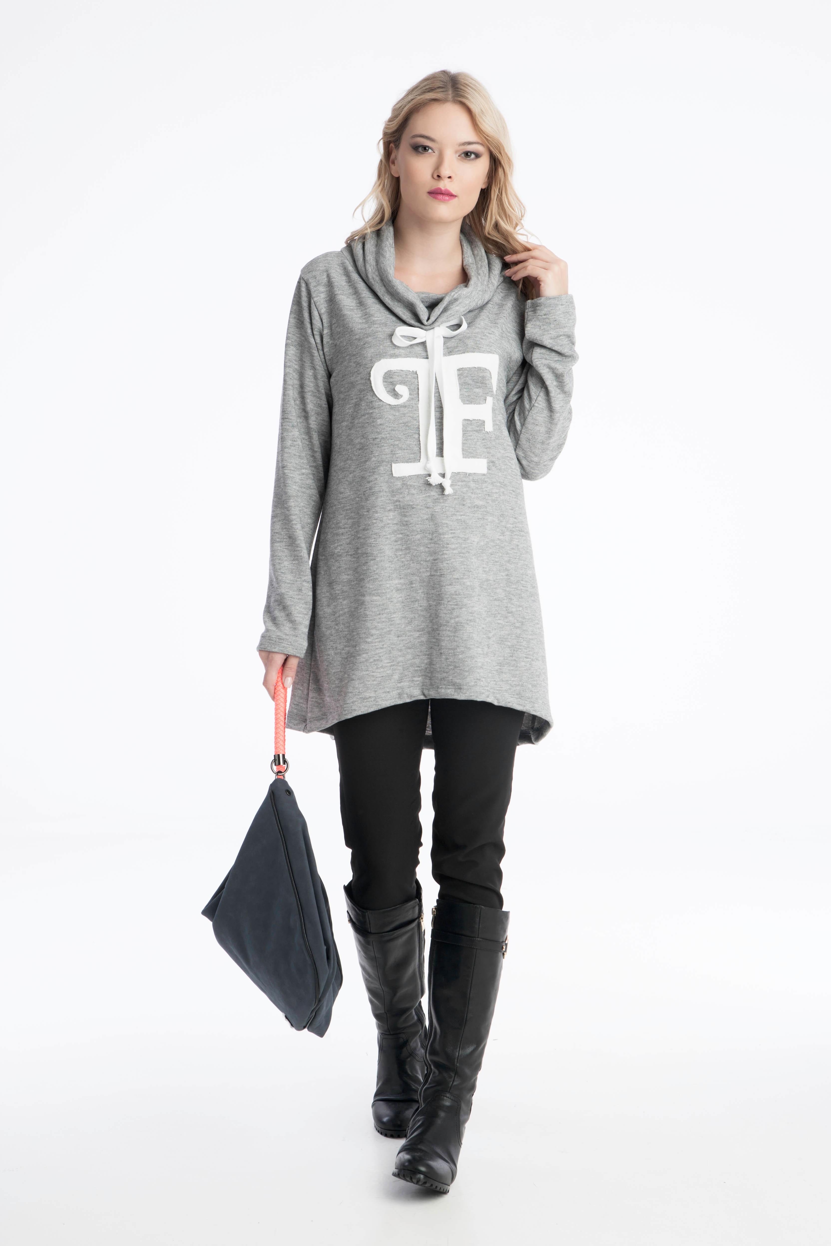 75a2d5789987 Γυναικεία Μπλούζα Πλεχτή Prestige Fashion Logo - Prestige Fashion