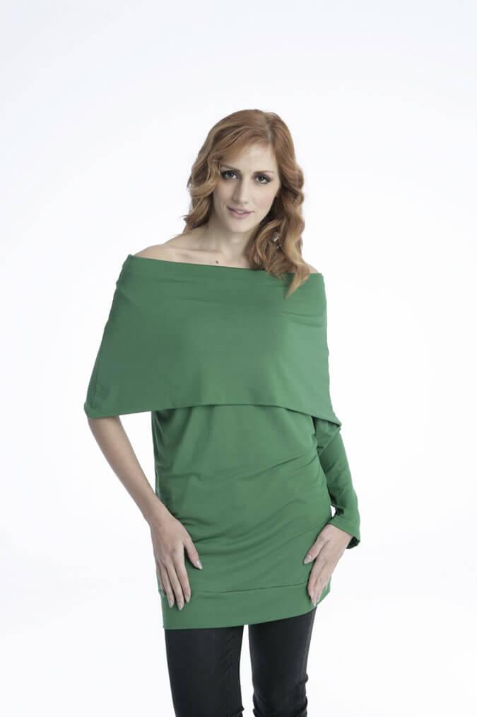 Γυναικείο Μπλουζοφόρεμα με Μονό Μανίκι