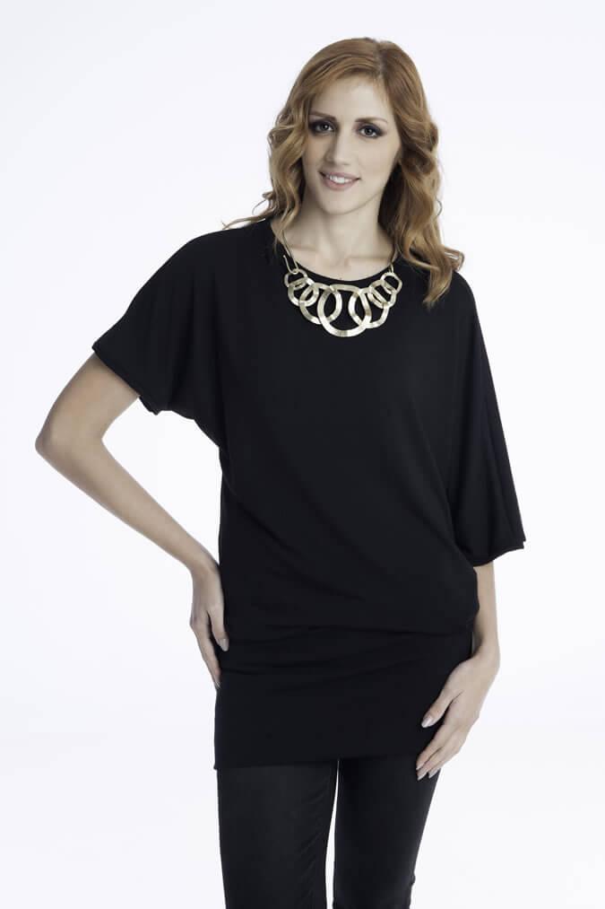 Γυναικείο Μπλουζοφόρεμα Μανίκια Νυχτερίδα