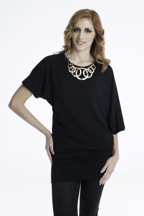 Γυναικείο μαύρο μπλουζοφόρεμα