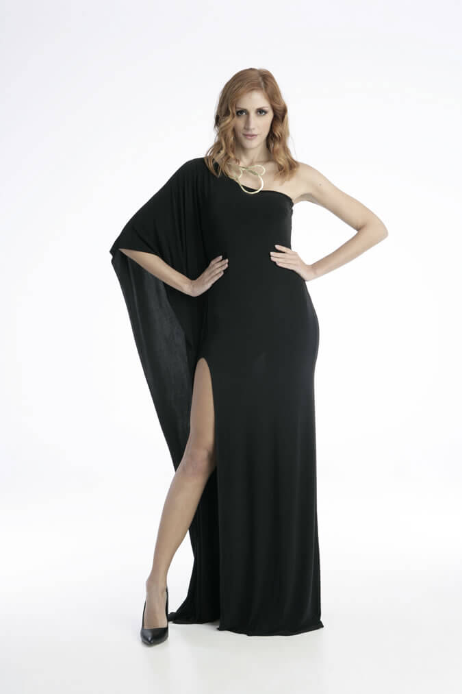 Φόρεμα Maxi με Άνοιγμα στο Πόδι