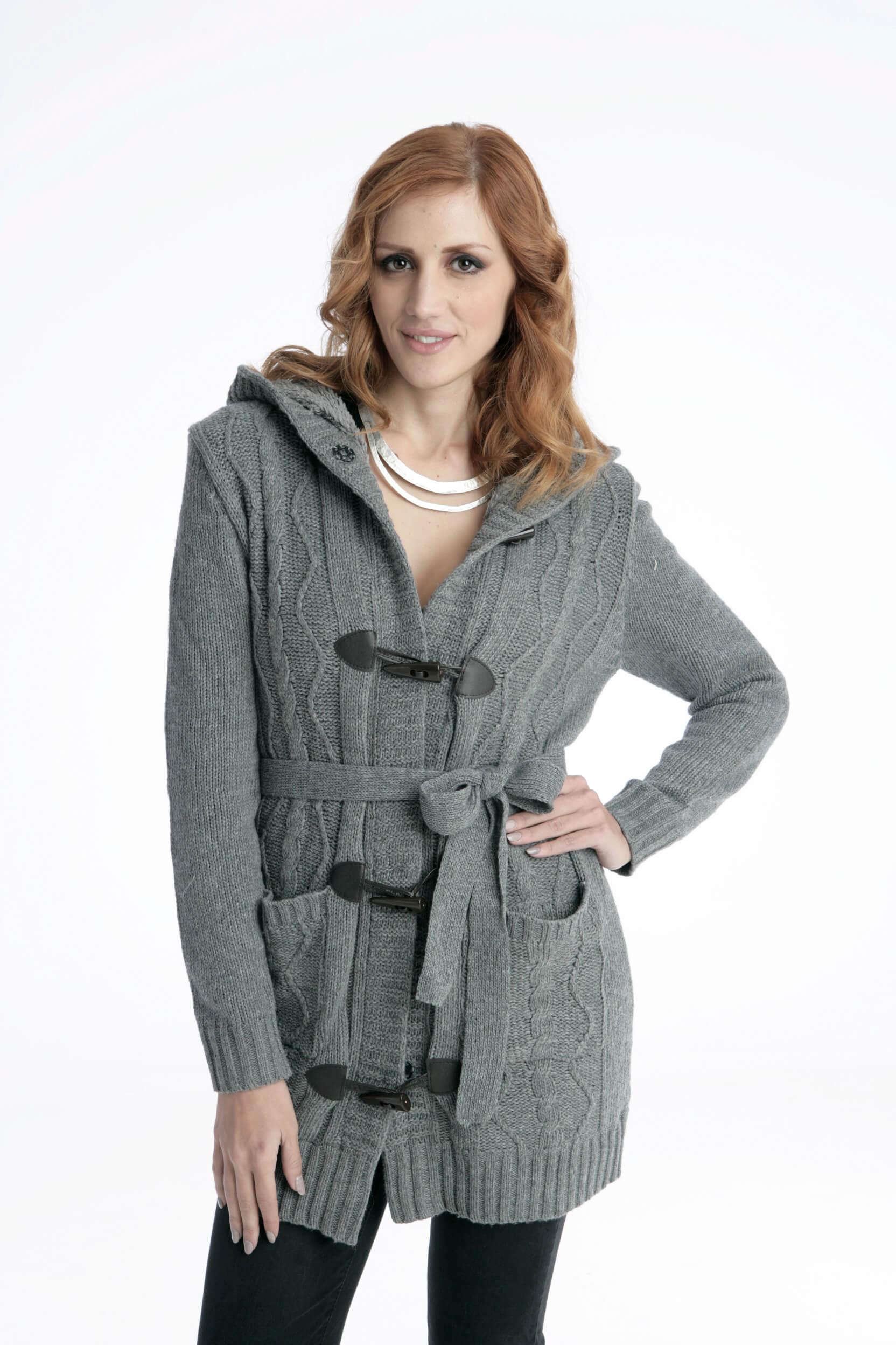 Γυναικείο Μπουφάν Ζακέτα με Κουκούλα - Prestige Fashion 536eeec74da