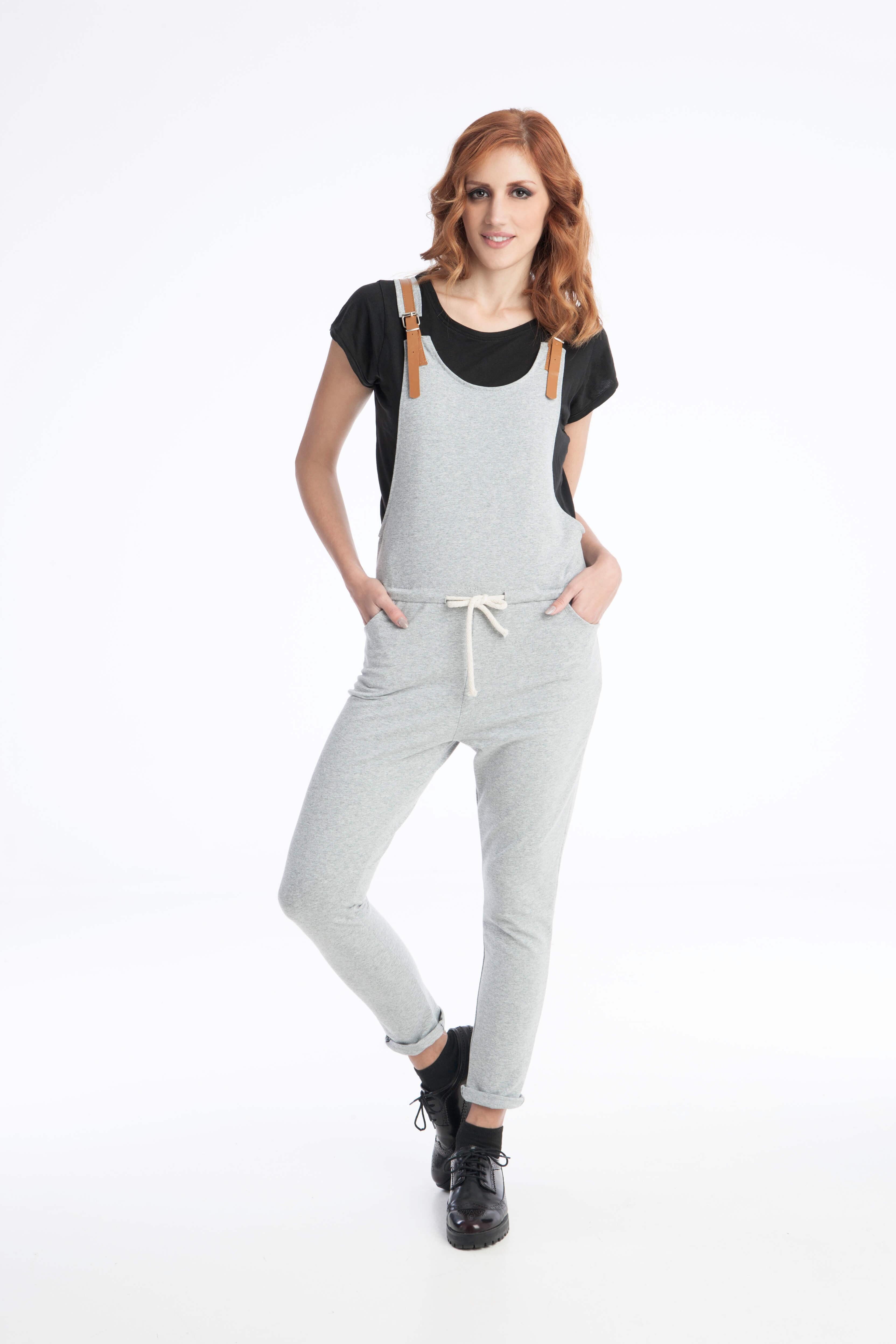 Γυναικεία Ολόσωμη Φόρμα με Δερμάτινες Τιράντες - Prestige Fashion 56fcdd7070a