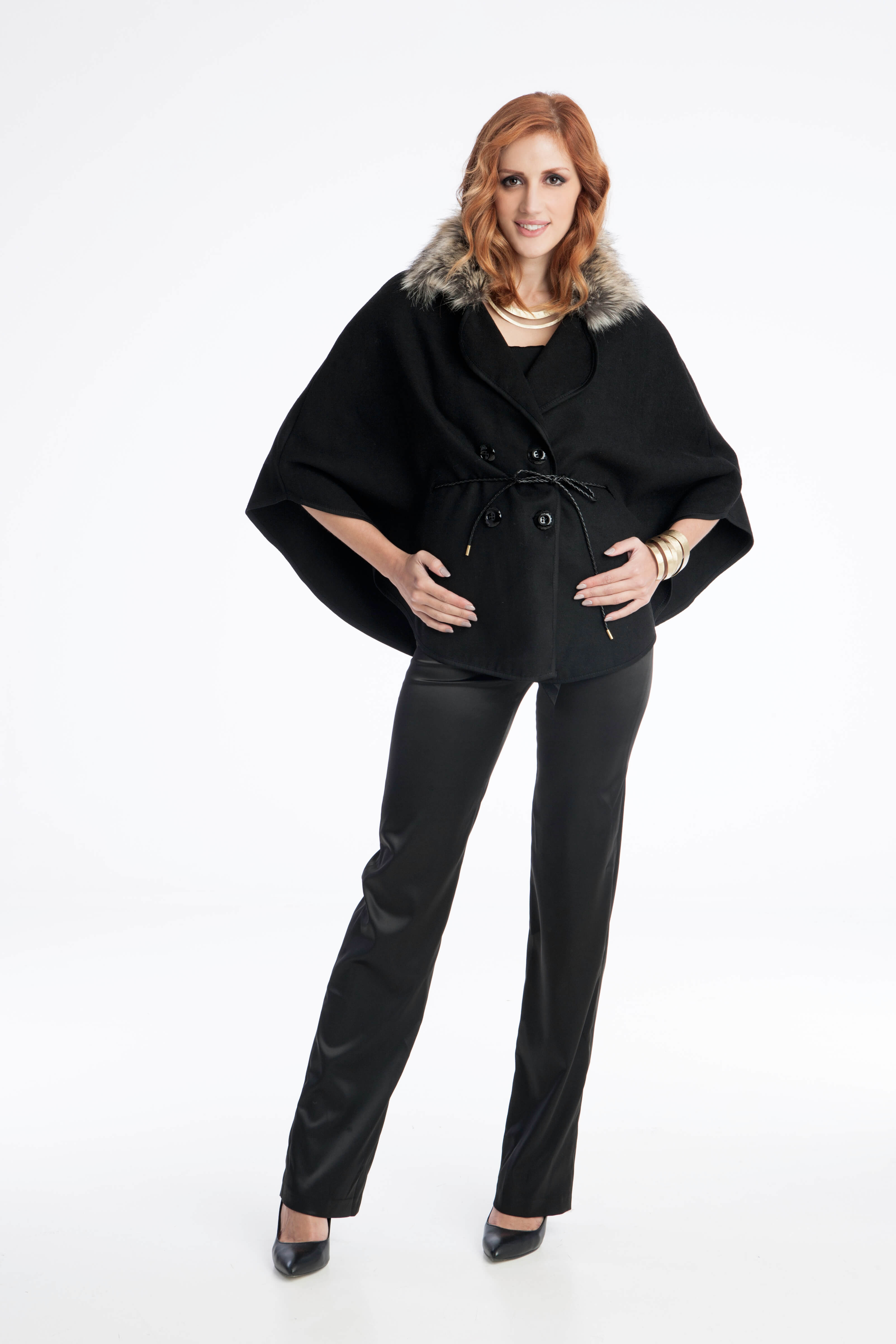 19fca922de95 Γυναικεία κάπα με γούνα - Prestige Fashion