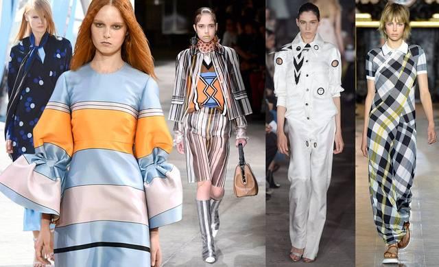 Γεωμετρικά σχήματα στα ρούχα