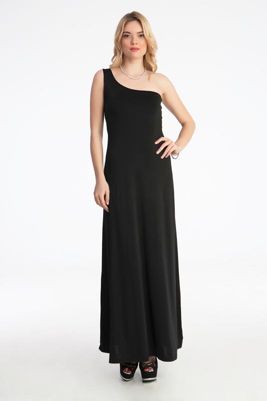 Γυναικείο φόρεμα max με ένα ωμό έξω