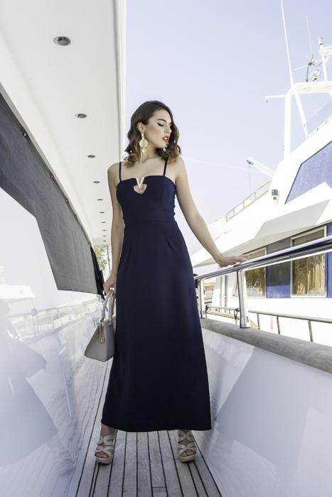 Γυναικείο φόρεμα 2 σε 1 στράπλες η με τιράντες με διακοσμητικό V μπροστά