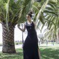 Γυναικείο βραδύνω max φόρμα εξώπλατο με σχοινιά στη πλάτη