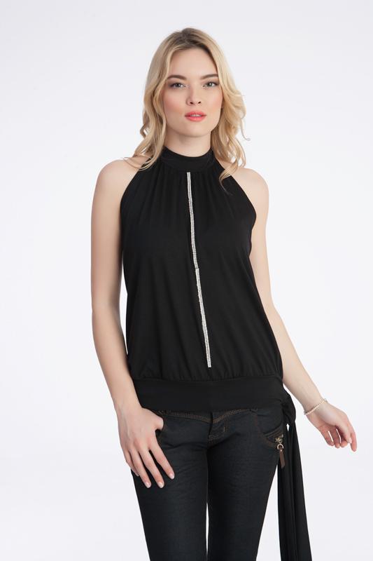 Γυναίκεια μπλούζα εξώπλατη με στρας