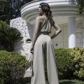 Γυναίκεια ολόσωμη φόρμα πάνω μέρος με δαντέλα. πίσω με φερμουάρ