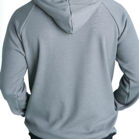 Αντρική ζακέτα-μπουφάν ζεστό με χνούδι από μέσα με κουκούλα τσέπες και φερμουάρ.