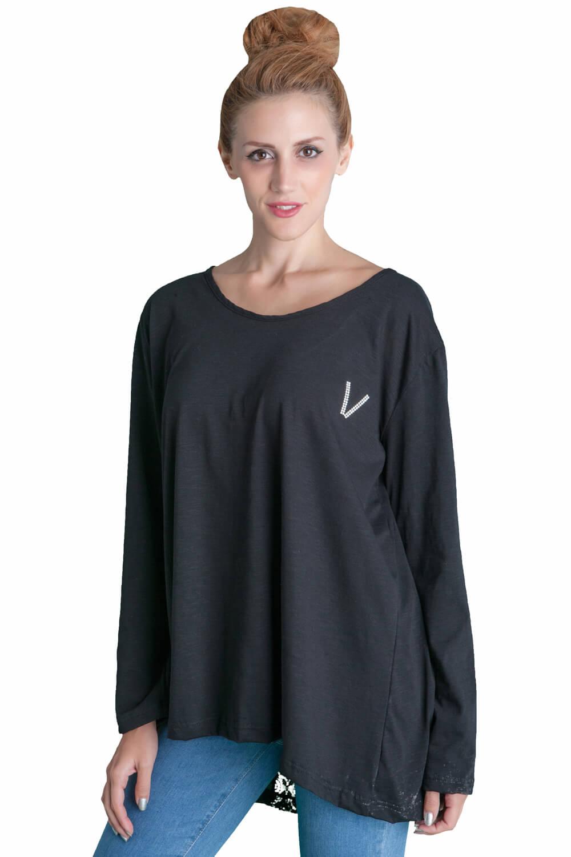 1aa8ec9ee9e3 Γυναίκεια μπλούζα φαρδιά πίσω με φιόγκο και νταντέλα. - Prestige Fashion