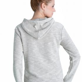 Γυναίκεια μπλούζα φαρδιά πίσω με φιόγκο και νταντέλα.