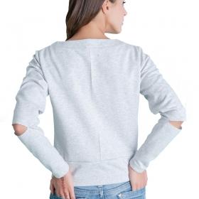 Γυναικεία τοπ μπλούζα με σκισίματα στα μανίκια